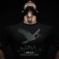 SB-LII Champions • Eagle Made of Words • Unisex Short-Sleeve T-Shirt