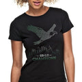 SB-LII Champions • Eagle Made of Words • Women's Slim Fit T-Shirt