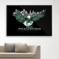 SB-LII Champions • One City. One Team. • Poster (Framed)