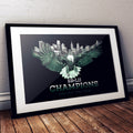 SB-LII Champions • One City. One Team. • Poster (Unframed)