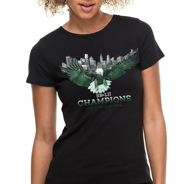 SB-LII Champions• One City. One Team. • Women's Slim Fit T-Shirt