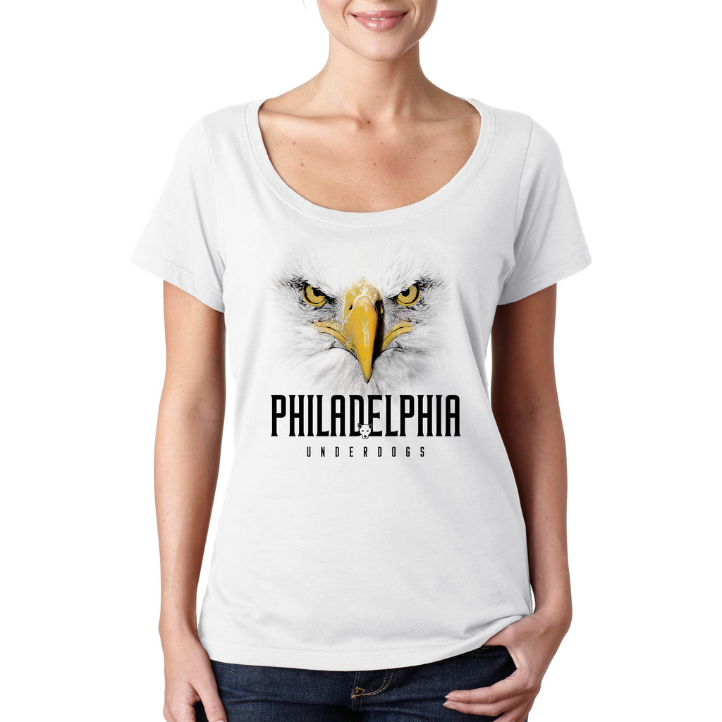Philadelphia Underdogs •  Women's Sheer Scoopneck T-shirt