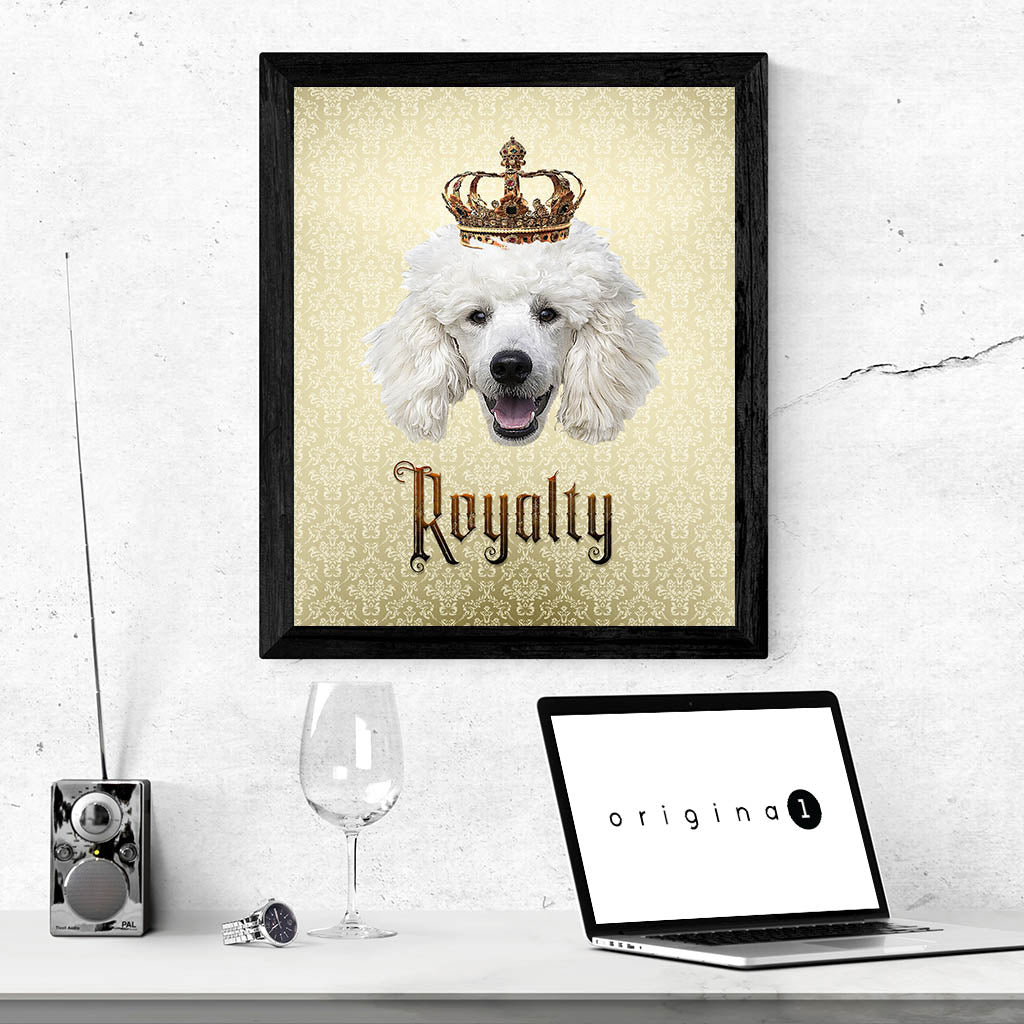 Poodle Royalty • Framed, Customizable Poster