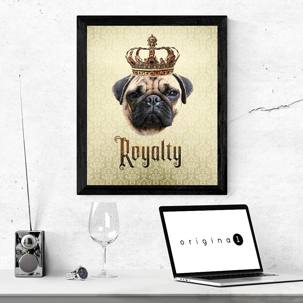 Pug Royalty • Framed, Customizable Poster