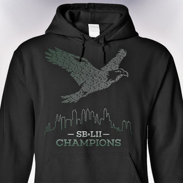 SB-LII Champions • Eagle Made of Words • Hoodie