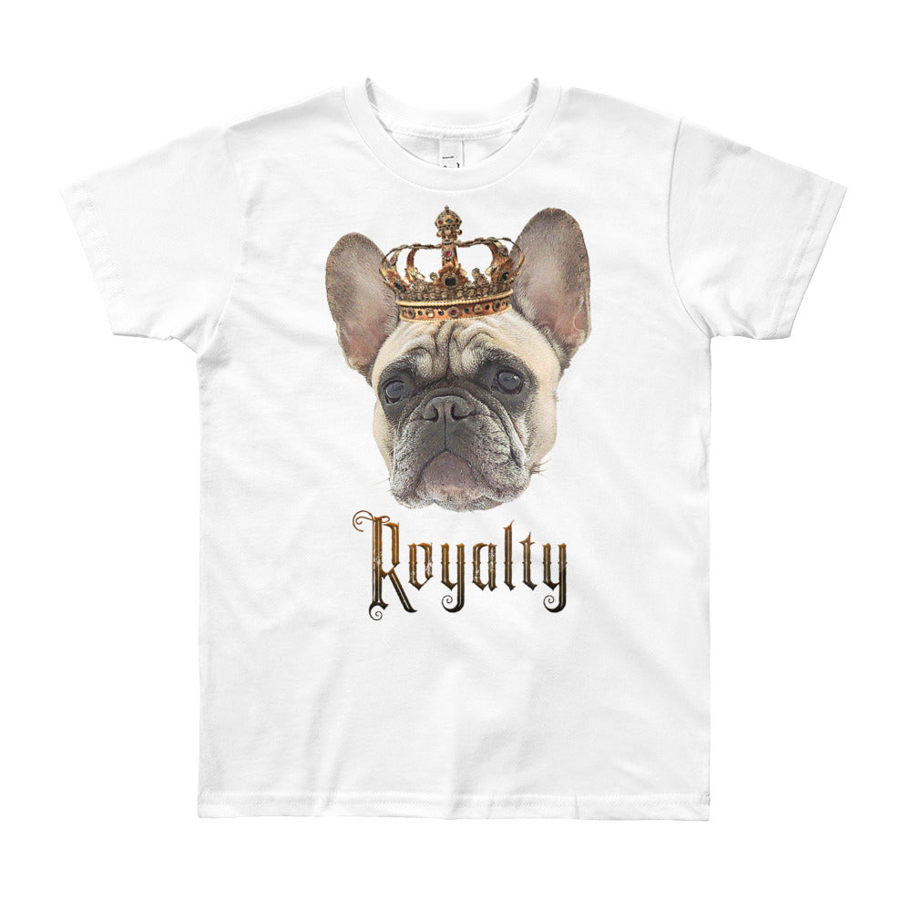 French Bulldog Royalty • Customizable, Youth Short Sleeve T-Shirt