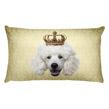 Poodle • Rectangular Pillow