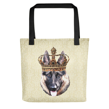 German Shepherd Royalty Tote Bag