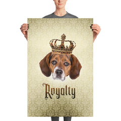 Beagle Royalty Unframed, Customizable Poster