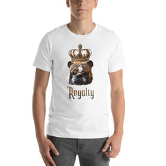 English Bulldog Royalty • Customizable, Premium, Short-Sleeve, Unisex T-Shirt