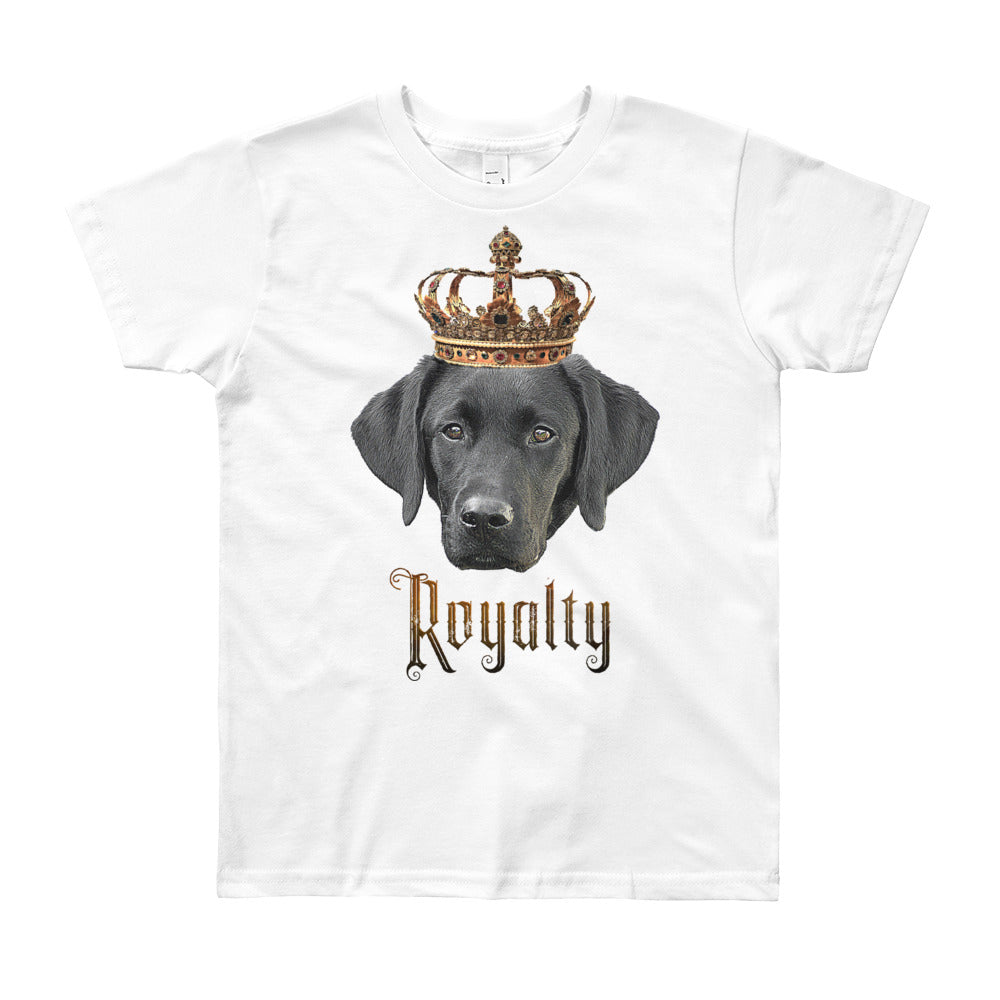 Labrador Retriever Royalty • Customizable, Youth Short Sleeve T-Shirt