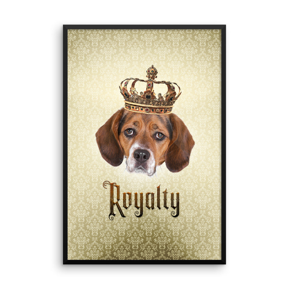 Beagle Royalty • Framed, Customizable Poster