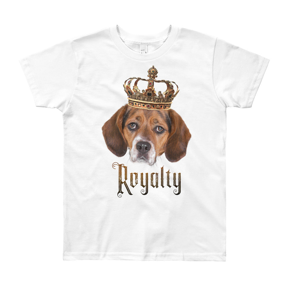 Beagle Royalty • Customizable, Youth Short Sleeve T-Shirt