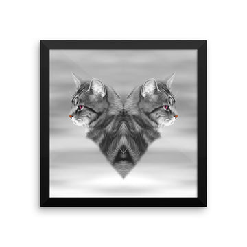 CAT LOVE •  Framed Poster