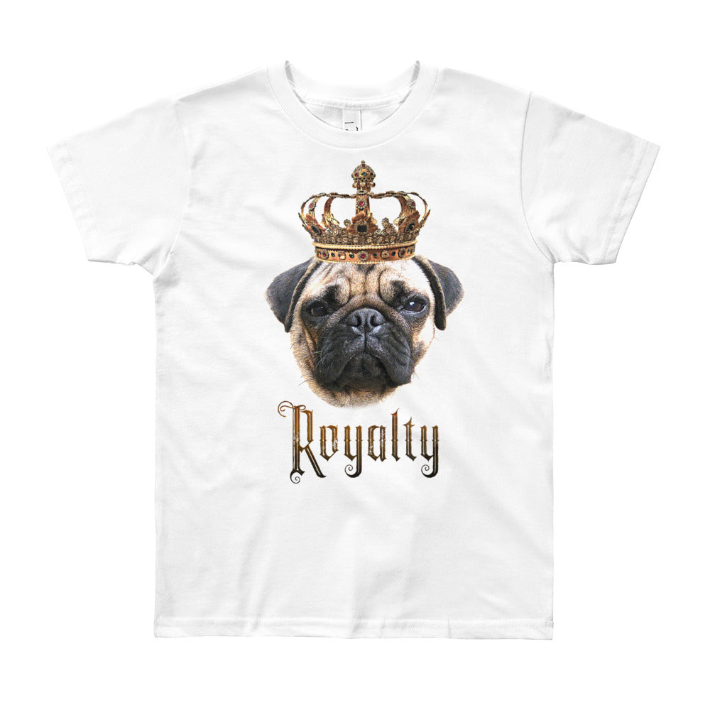 Pug Royalty • Customizable, Youth Short Sleeve T-Shirt