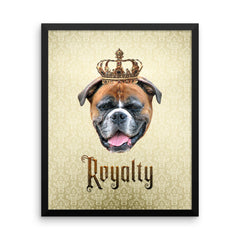Boxer  Royalty • Framed, Customizable Poster