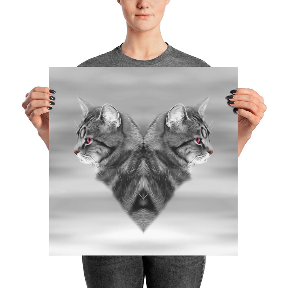 CAT LOVE •  Unframed Poster