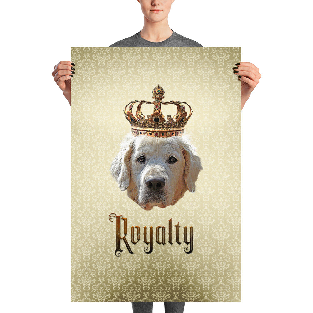 Golden Retriever Royalty Unframed, Customizable Poster