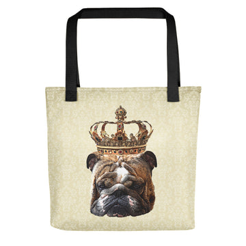 English Bulldog Royalty Tote Bag