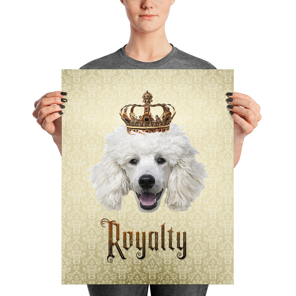 Poodle Royalty Unframed, Customizable Poster