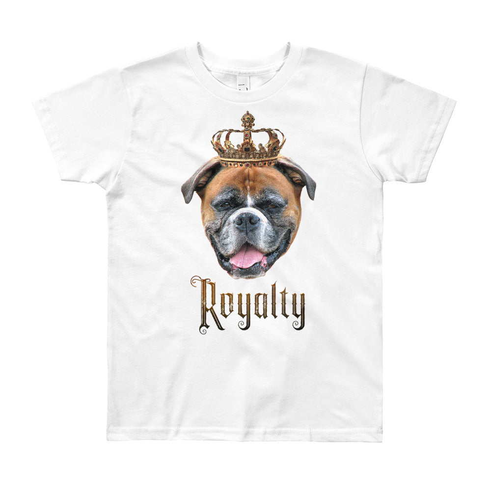 Boxer Royalty • Customizable, Youth Short Sleeve T-Shirt