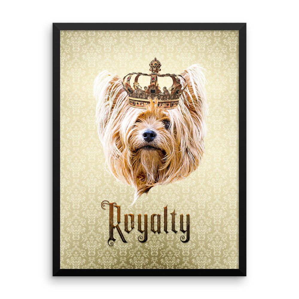 Yorkshire Terrier Royalty • Framed, Customizable Poster