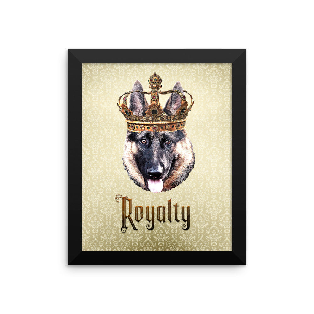 German Shepherd Royalty • Framed, Customizable Poster