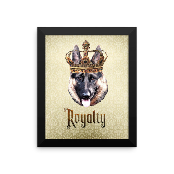 German Shepherd Royalty • Framed Poster