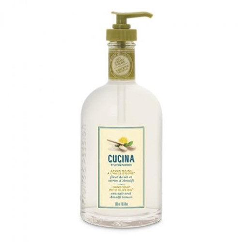 Fruits and Passion Cucina Sea Salt and Amalfi Lemon Hand Wash Liquid Soap 16.9 Oz-Fruits and Passion Cucina-Oak Manor Fragrances