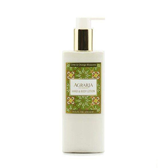 Agraria Home Lime and Orange Blossoms Hand and Body Lotion 8.45 oz-Agraria San Francisco Home-Oak Manor Fragrances