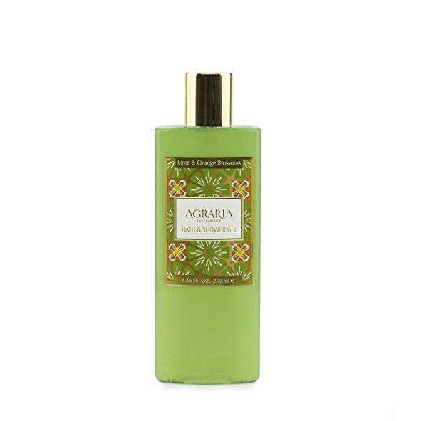 Agraria San Francisco Home Lime and Orange Blossoms Bath and Shower Gel 8.45 oz-Agraria San Francisco Home-Oak Manor Fragrances