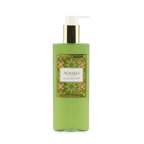 Agraria San Francisco Home Lime and Orange Blossoms Liquid Hand Soap 8.45 oz-Agraria San Francisco Home-Oak Manor Fragrances