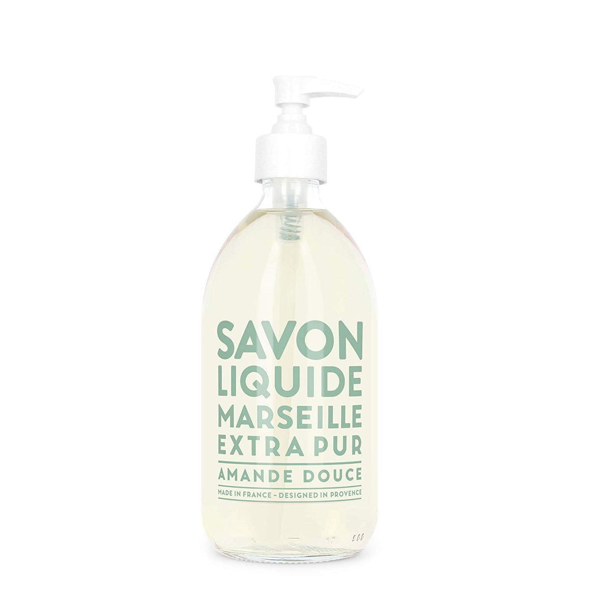 Compagnie de Provence Sweet Almond Liquid Hand Soap Glass 16.7 oz-Compagnie de Provence Savon de Marseille-Oak Manor Fragrances
