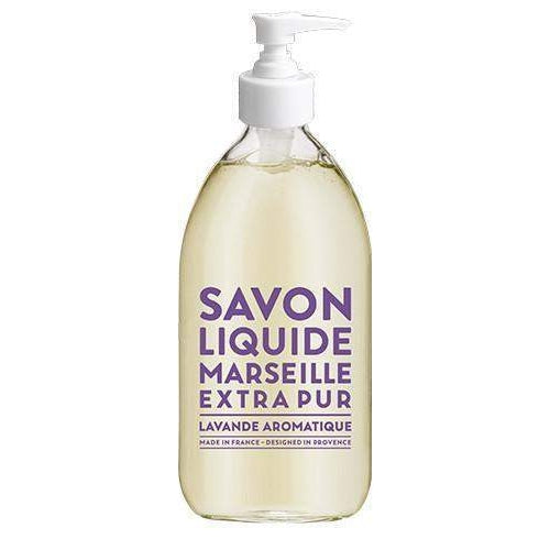 Compagnie de Provence Aromatic Lavender Liquid Marseille Soap 16.9 oz Glass-Compagnie de Provence Savon de Marseille-Oak Manor Fragrances