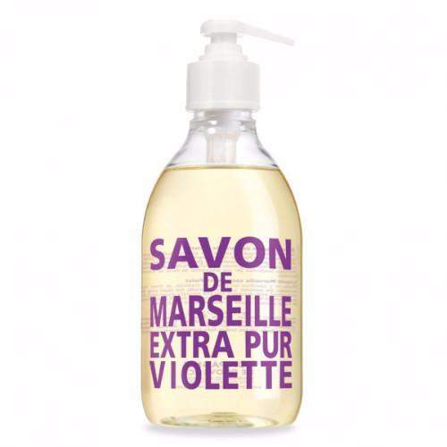 Compagnie de Provence Sweet Violet Liquid Marseille Soap 16.9 oz Glass Bottle-Compagnie de Provence Savon de Marseille-Oak Manor Fragrances