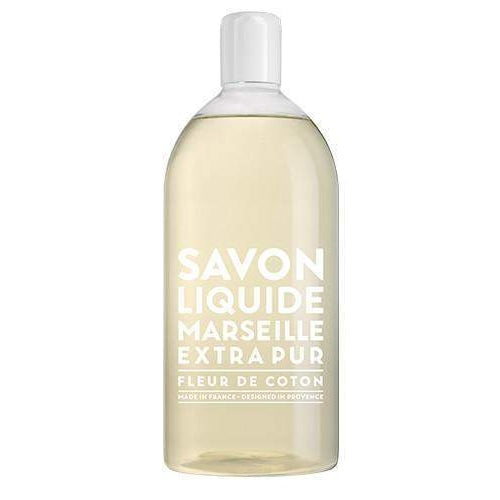 Compagnie de Provence Cotton Flower Liquid Marseille Soap Refill-Compagnie de Provence Savon de Marseille-Oak Manor Fragrances