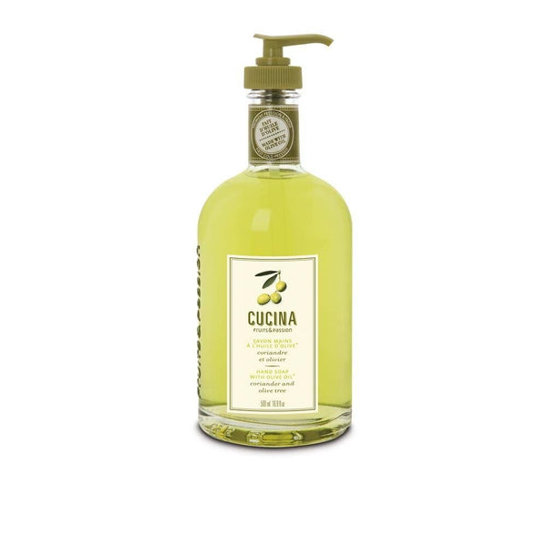 Fruits and Passion Cucina Coriander and Olive Tree Hand Wash Liquid Soap 16.9 Oz-Fruits and Passion Cucina-Oak Manor Fragrances