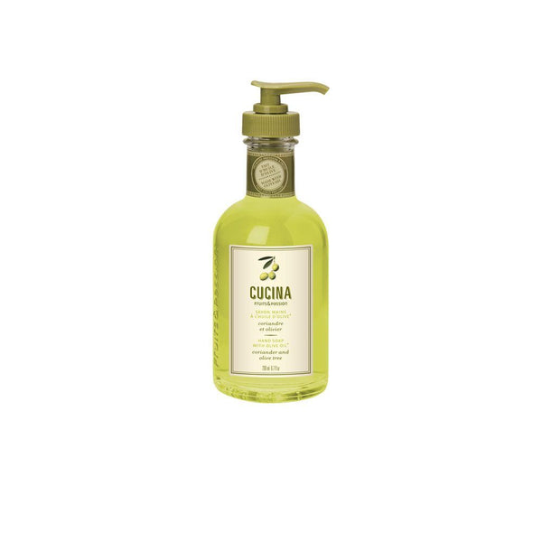 Fruits and Passion Cucina Coriander and Olive Tree Hand Wash Liquid Soap 6.7 fl Oz-Fruits and Passion Cucina-Oak Manor Fragrances