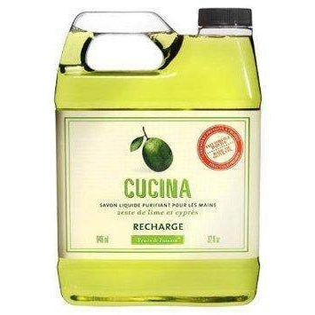 Cucina Lime Zest and Cypress Purifying Hand Wash Refill-Fruits and Passion Cucina-Oak Manor Fragrances
