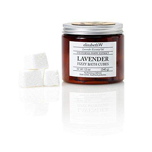 Elizabeth W Lavender Fizzy Bath Cubes-Elizabeth W-Oak Manor Fragrances