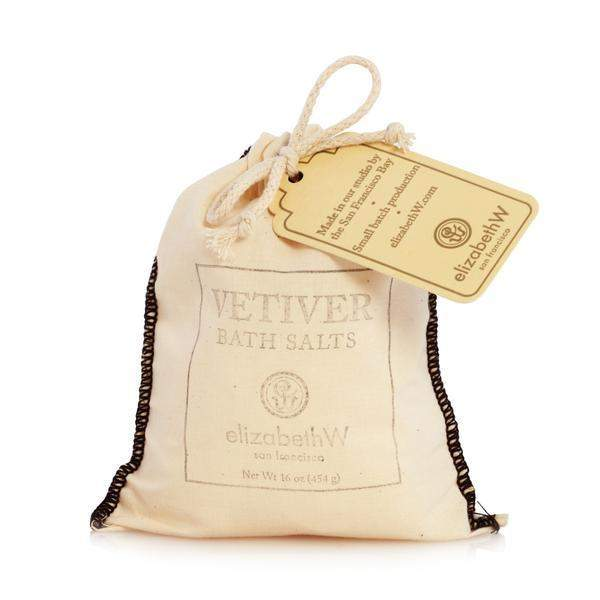 Elizabeth W Vetiver Bath Salts in Bag 16 oz-Elizabeth W-Oak Manor Fragrances
