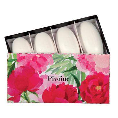 Fragonard 2017 Flower of the Year Peony (Pivoine) 4 Pebble Soap Set-Fragonard Parfumeur-Oak Manor Fragrances