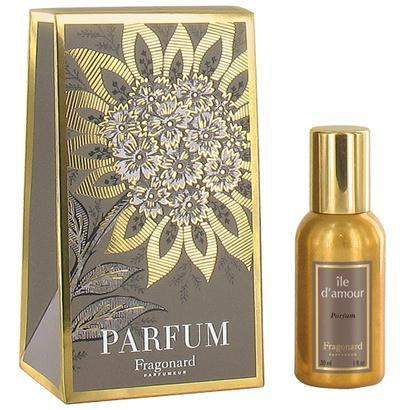 Fragonard Ile d'Amour Gold Bottle Parfum 30 ml or 60 ml-Fragonard Parfumeur-Oak Manor Fragrances