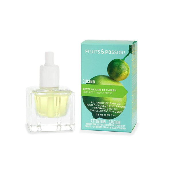 Fruits and Passion Cucina Lime Zest and Cypress Electric Diffuser REfill-Fruits and Passion Cucina-Oak Manor Fragrances