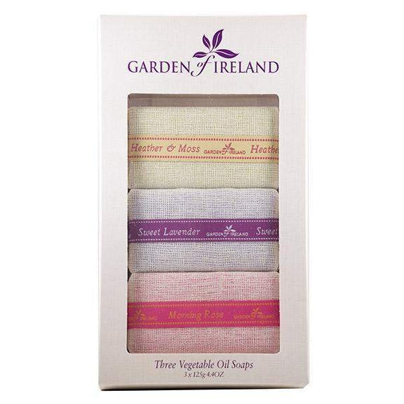 Garden of Ireland Mixed Vegetable Oil Soaps Gift Set-Fragances of Ireland Inis-Oak Manor Fragrances