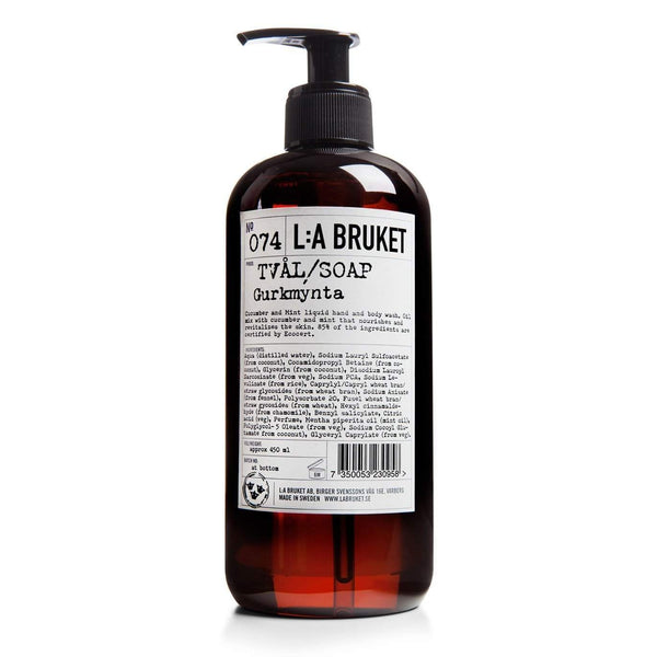 L:A Bruket No. 074 Liquid Soap (Hand and Body) Cucumber Mint-L:A Bruket-Oak Manor Fragrances