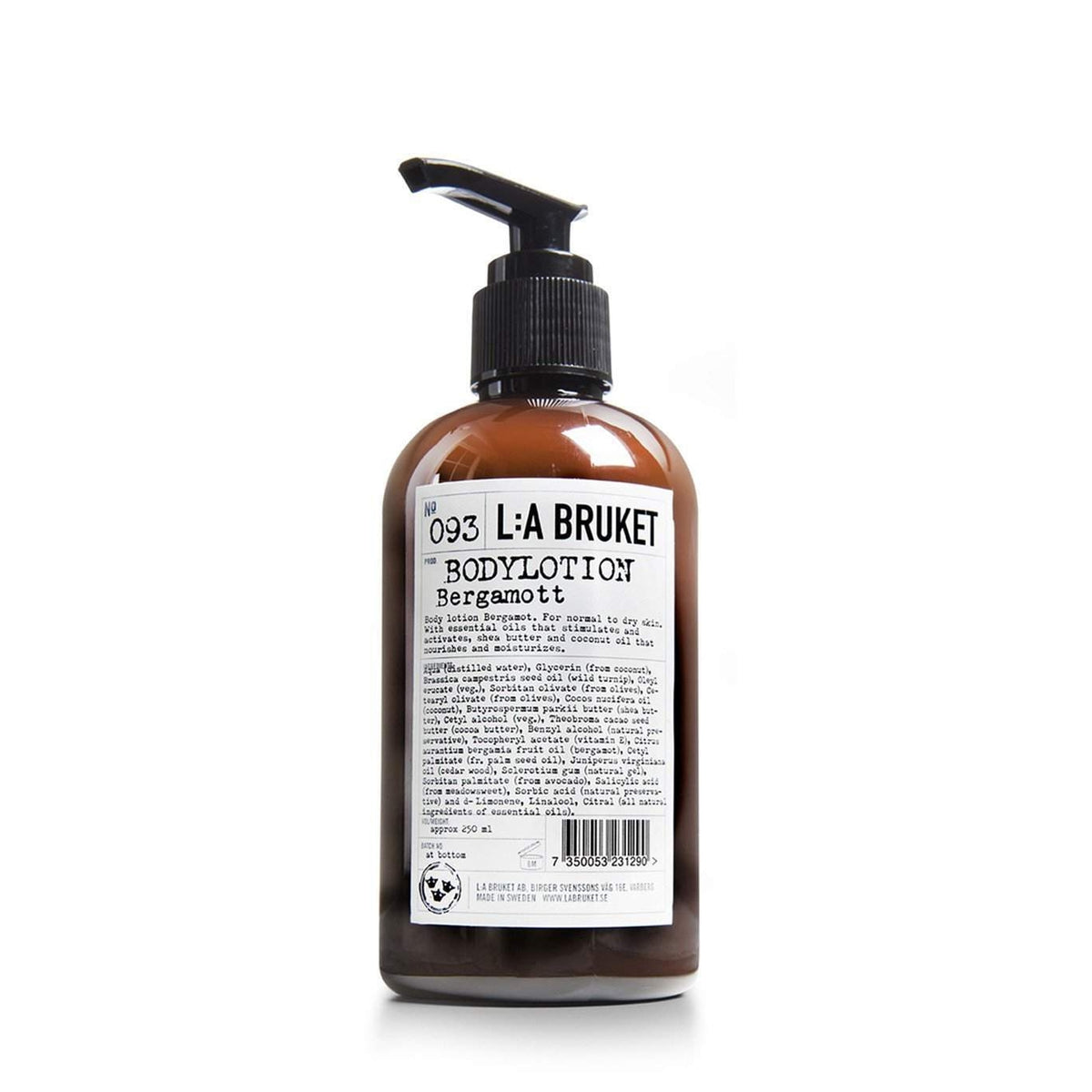 L:A Bruket No. 093 Body Lotion Bergamot Patchouli 250 ml-L:A Bruket-Oak Manor Fragrances