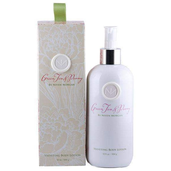 Niven Morgan Green Tea and Peony Velveting Body Lotion 12 oz-Niven Morgan-Oak Manor Fragrances