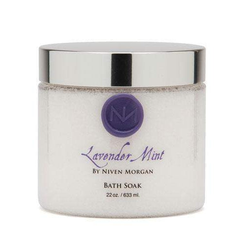 Niven Morgan Lavender Mint Bath Soak 22 oz-Niven Morgan-Oak Manor Fragrances