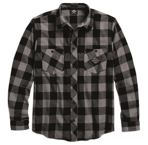 Brushed Cotton Plaid Flannel Shirt